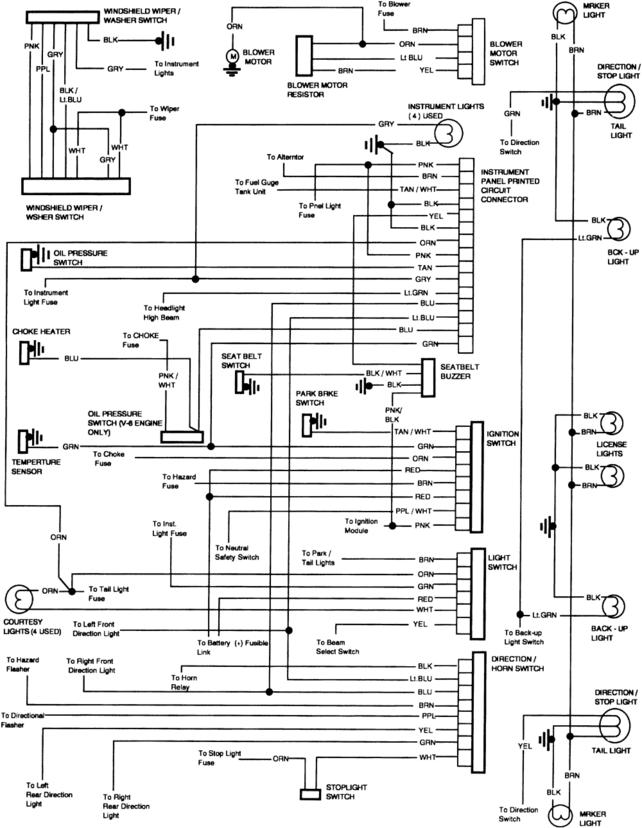 wiring diagrams for 1985 wiper motor - The 1947 - Present ... on