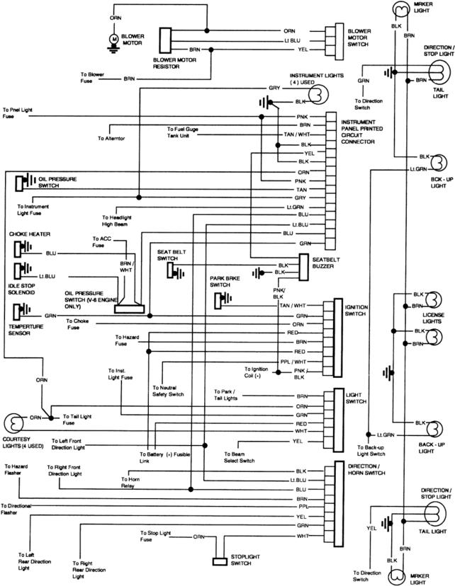 1981 chevy truck wiring diagram - the 1947 - present chevrolet, Wiring diagram
