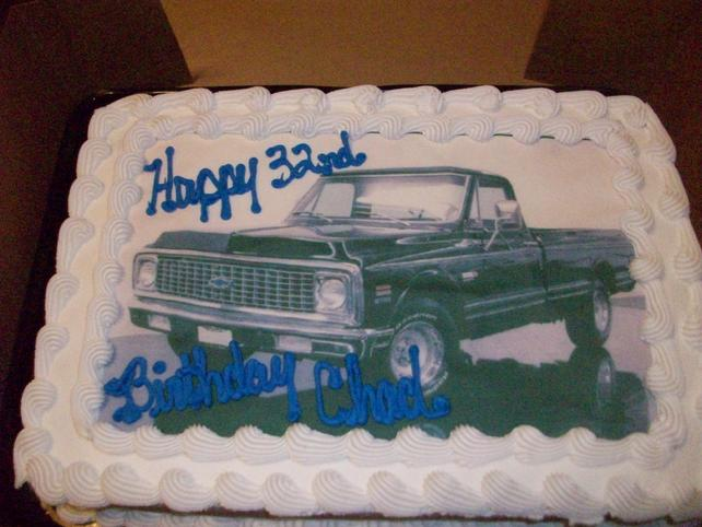 Birthday Cake The 1947 Present Chevrolet Gmc Truck Message