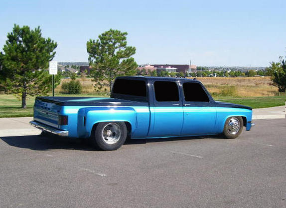 87 chevy dually lowered