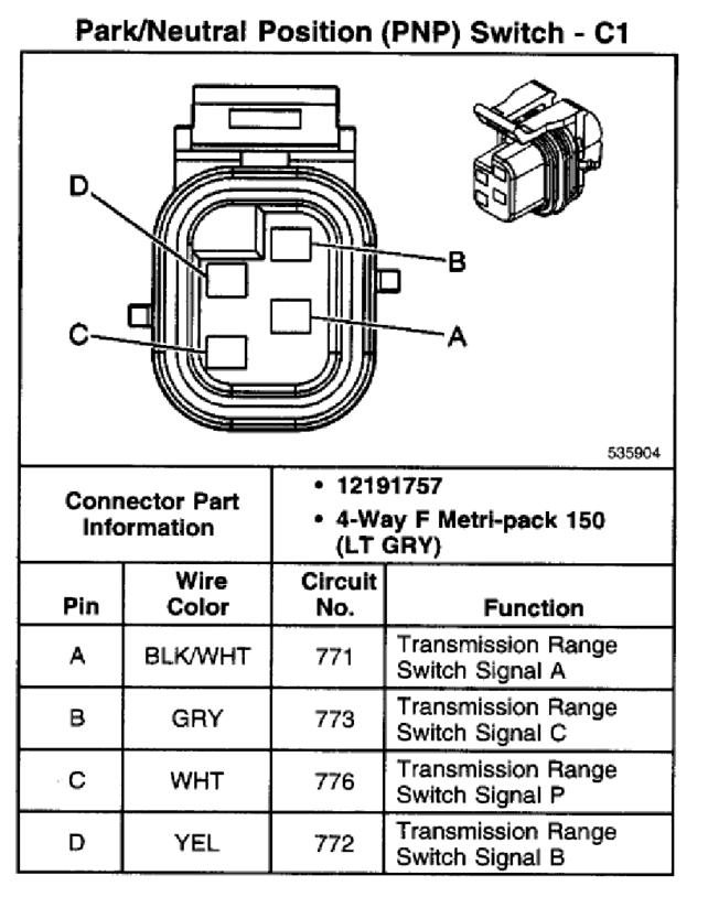 Wiring diagram for 4l80e Neutral Safty Switch - The 1947 - Present on 87 chevy neutral safety diagram, gm park neutral switch diagram, allison automatic transmission reverse switch,