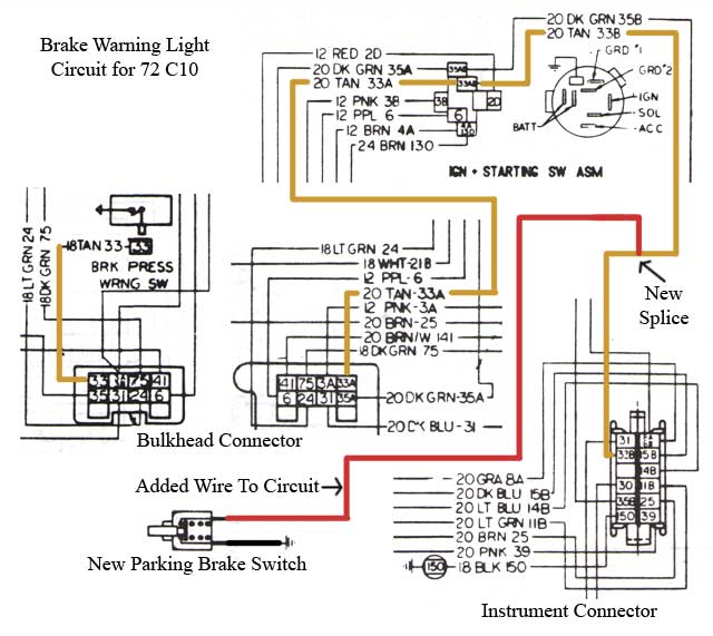 Parking brake indicator mod, easy project. - The 1947 - Present Chevrolet &  GMC Truck Message Board Network67-72 Chevy Trucks