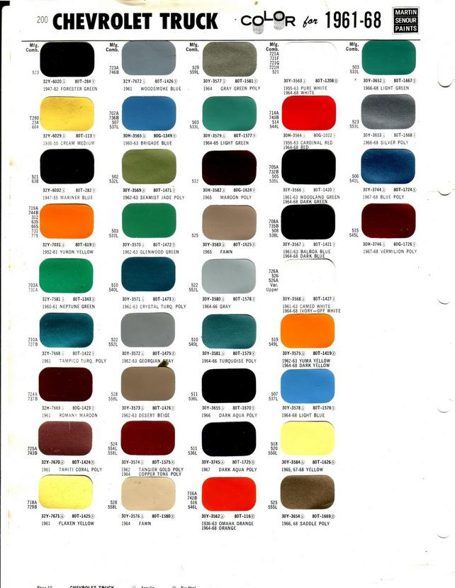 1972 Chevy Truck Color Chart 2017 2018 Best Cars Reviews