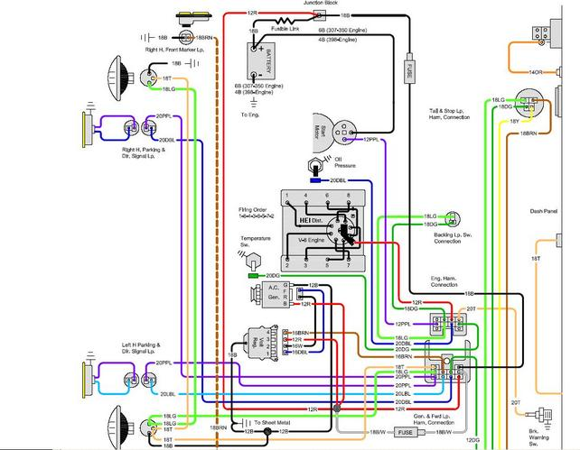 72 chevy starter wiring diagram hecho 68 c10 yellow wire from firewall to starter/coil. - the ... 68 chevy starter wiring diagram