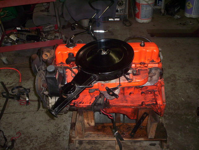 swapping a 350 for the tired inline 6 the 1947 present attached images