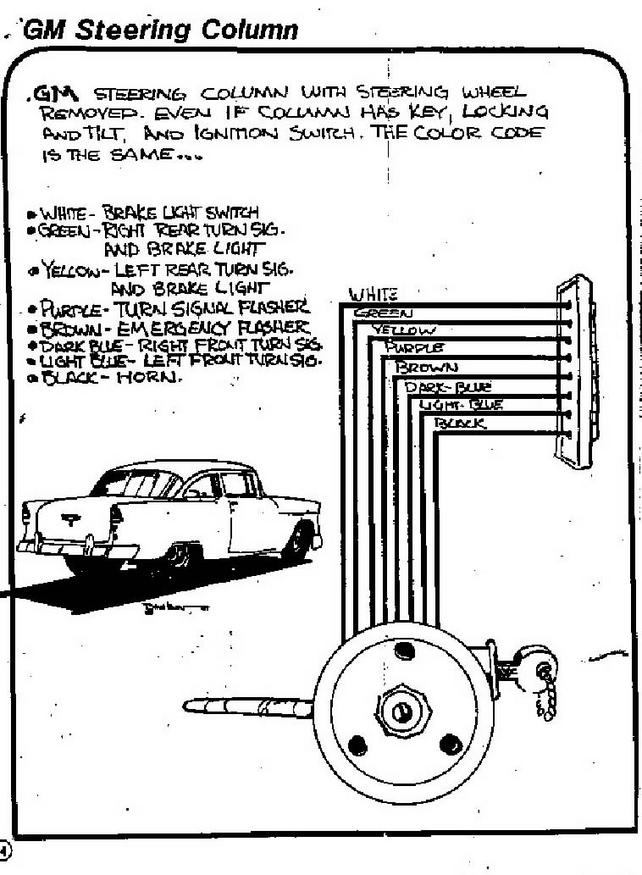 steering column wires? - the 1947 - present chevrolet ... chevy steering column wiring diagram for 1972 #7