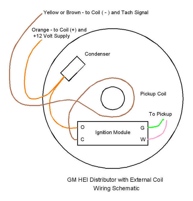 6 cylinder HEI module to external coil wiring question The 1947 – External Coil Wiring Diagram