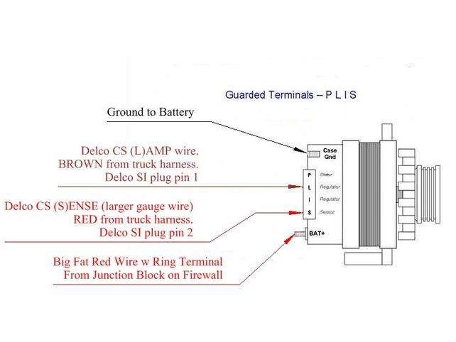Gm 4 Wire Alternator Wiring Diagram : Wiring diagrams for alternator wire chevy readingrat