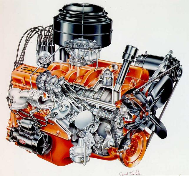 V8 Engine Tattoo Stock 350 Engine Diagr...