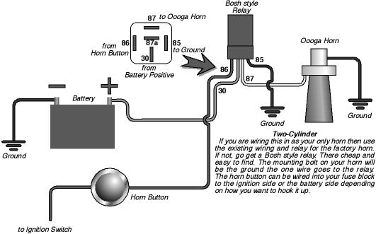 wiring an electrical ooga horn - the 1947 - present chevrolet, Wiring diagram