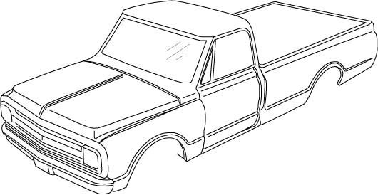 pick up truck drawing outline 37832