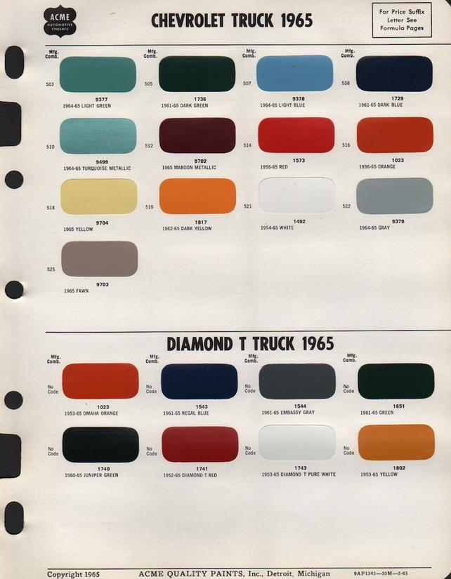1965-66 Paint code key - The 1947 - Present Chevrolet & GMC ... on 1961 chevrolet truck, 1961 ford apache, 1958 gmc apache, chippewa apache, 1961 chevrolet deluxe, chevy apache, jeep apache, 1961 chevrolet stepside,