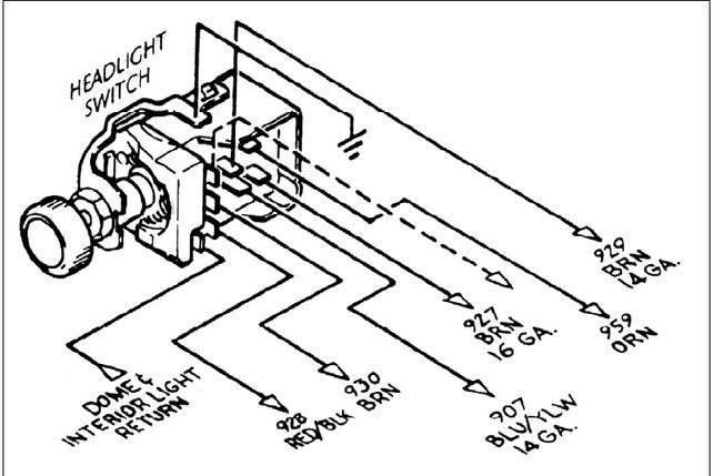 62 headlight switch diagram - the 1947