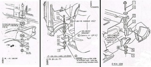 Where do new 67 cab mounts go? - The 1947 - Present