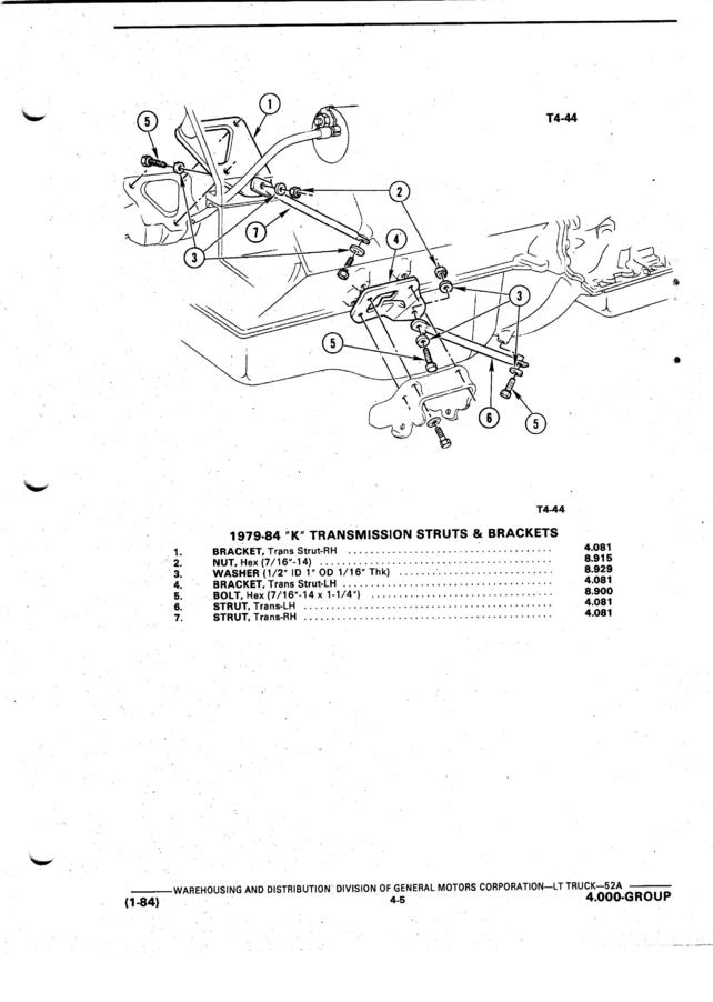 transfer case support - the 1947