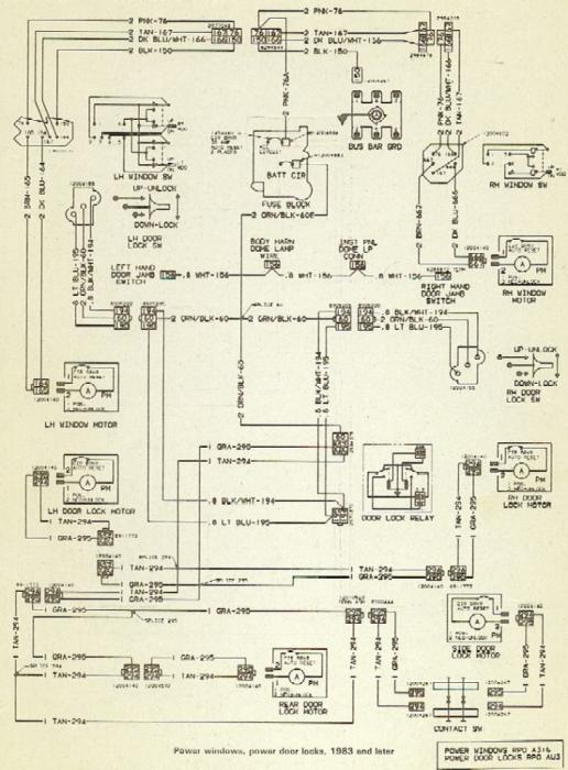 1983 chevy c10 wiring diagram power windows and locks    diagrams    the 1947 present  power windows and locks    diagrams    the 1947 present