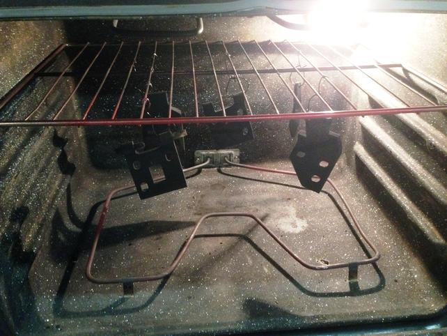 Name:  Dry Coated Hinges In Oven.jpg