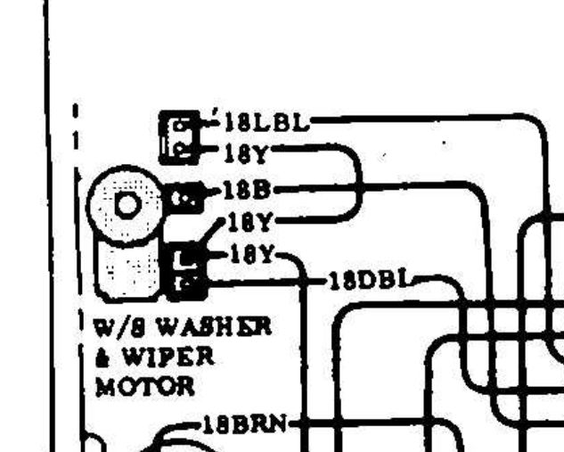windshield washer motor - the 1947 - present chevrolet ... 77 chevy truck wiper wiring diagram