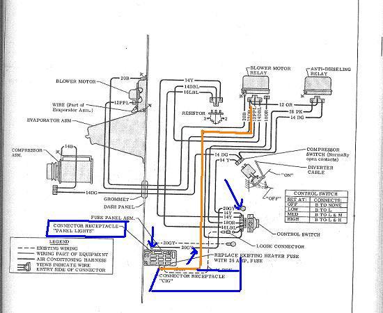 ac wiring diagram 68-72 factory - the 1947 - present ... 68 camaro wiring harness diagram 67 wire 68 gmc wiring harness diagram