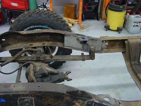 Name:  Front Axle installed with new boxing plate.jpg