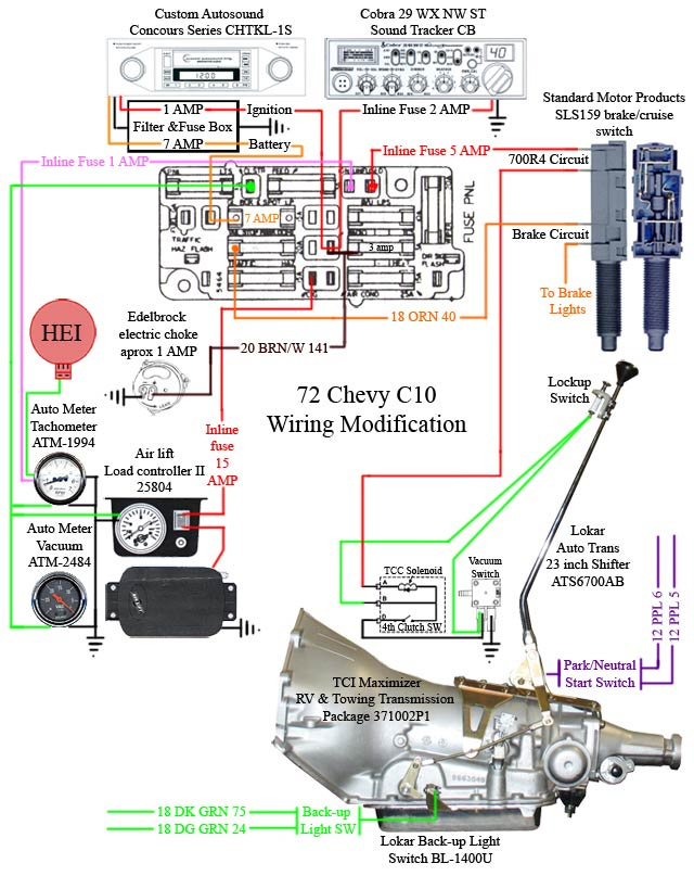 Turbo 350 Lockup Wiring Diagram on chevy c10 starter wiring diagram