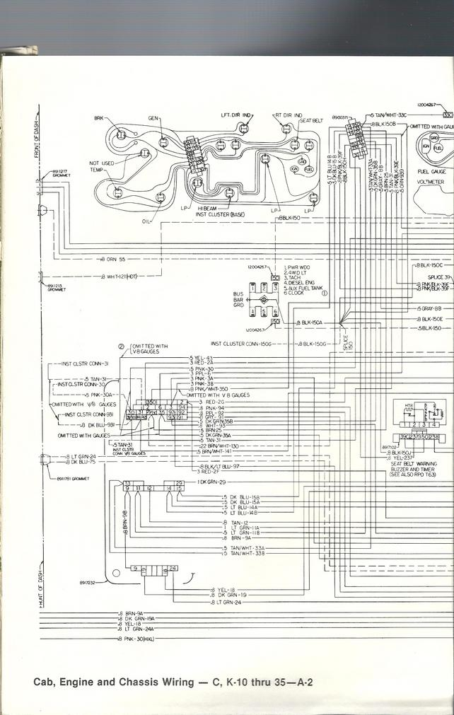 instrument cluster wiring diagram - the 1947 - present ... c3 gauge cluster wiring diagram