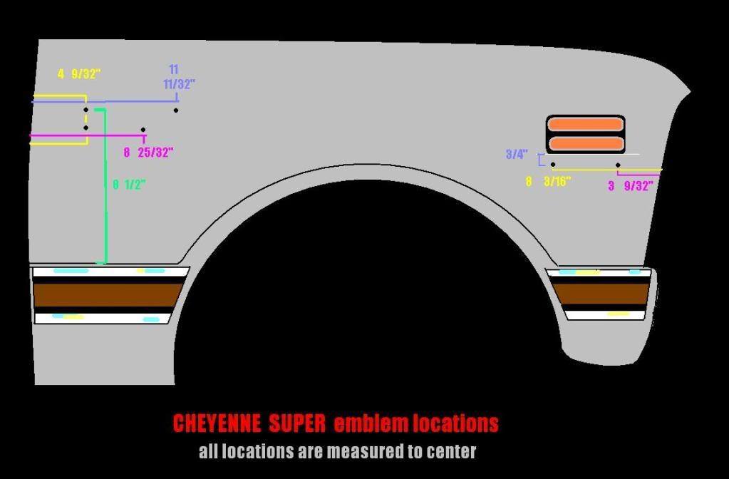 Cheyenne-10 & super emblem location - The 1947 - Present Chevrolet & GMC Truck Message Board Network