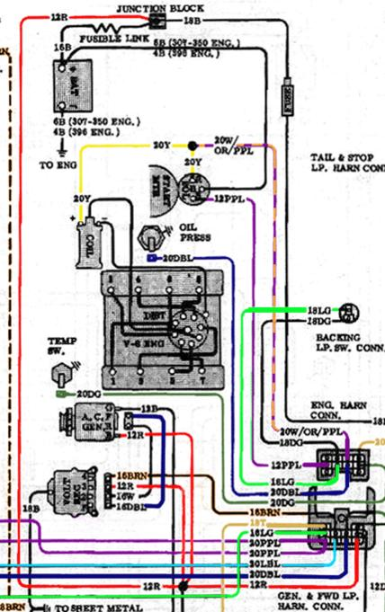 Chevrolet Starter Solenoid Wiring Diagram -Ford from 67-72chevytrucks.com