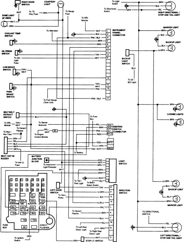 73-87 Chevy Truck Instrument Cluster Wiring Diagram from 67-72chevytrucks.com