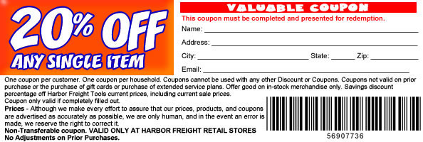 Harbor Freight Coupon Goodness Inside The 1947 Present Chevrolet