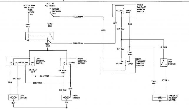 1986 chevy truck power window wiring diagram circuit and
