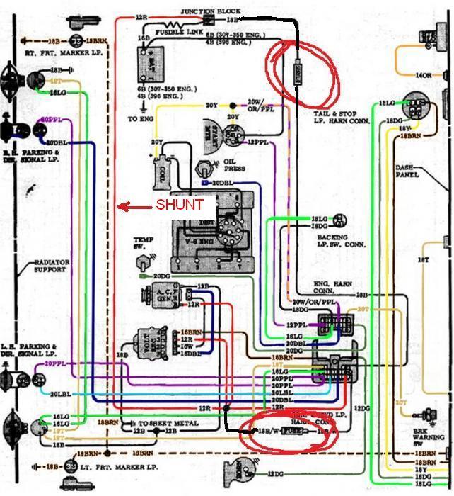 One Wire Alternator Wiring Diagram from 67-72chevytrucks.com